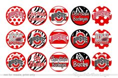 College Bottle Cap Designs | Ohio State