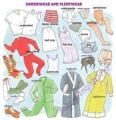 Forum | ________ Learn English | Fluent LandVocabulary: Underwear and Sleep Wear | Fluent Land