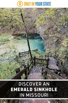 Discover a beautiful emerald tinted sinkhole, abandoned castle ruins, and more on this unique Missouri trail. It is a dog and family-friendly hike. Ha Ha Tonka, Natural Playground, Castle Ruins, Forest Park, Abandoned Castles, Water Tower, Outdoor Fun, Natural Wonders, Road Trips