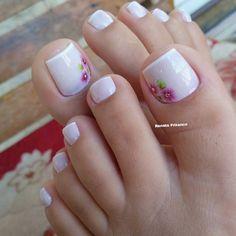 Confira as dicas para fazer unhas francesinhas perfeitas! Veja mais, Clique no link da imagem. Pretty Pedicures, Pretty Toe Nails, Cute Toe Nails, Get Nails, Toe Nail Art, Hair And Nails, Pedicure Designs, Toe Nail Designs, Mani Pedi