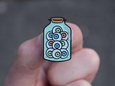 Jar of Eyeballs enamel pin by ObjectStore on Etsy