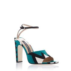 Sergio Rossi SR1 Graphic Sandal ($1,150) ❤ liked on Polyvore featuring shoes, sandals, green, ankle strap shoes, sergio rossi, suede leather shoes, suede sandals and ankle tie sandals