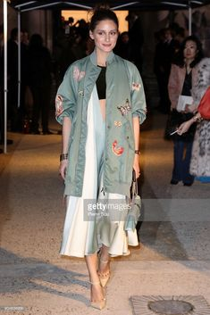 Olivia Palermo attends the Valentino Haute Couture Spring Summer 2018 show as part of Paris Fashion Week on January 24, 2018 in Paris, France.