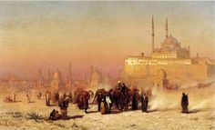 Egypt , Old Cairo Paintings: Louis Comfort Tiffany , American 1848 , 1933 - On the Way between Old and New Cairo