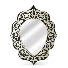 Butler Teardrop Bone Inlay Wall Mirror - 3483318