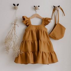 Baby Dress Design, Baby Girl Dress Patterns, Little Girl Dresses, Girls Dresses, Baby Girl Fashion, Kids Fashion, Baby Frocks Designs, Cute Baby Clothes, Kind Mode