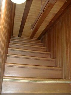 The Winchester Mystery House - This is The Stairway to Nowhere.