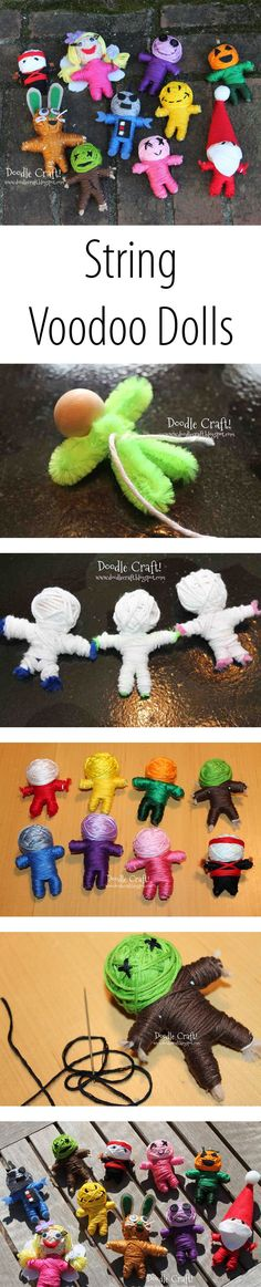 Make a string doll version of your favorite character.                                                                                                                                                     More