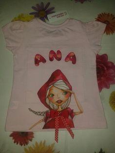 Camiseta de Caperucita Roja para Ana. Parte trasera