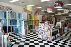 fabric store look at the lights