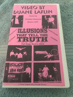 Duane Laflin VHS Video Illusions That Tell The Truth Full Stage Illusion Show | eBay
