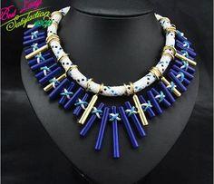 2014 New Shourouk ZA New Design European Gem Women Summer Hotsale Vintage Long Luxury Statement Tassel Ball Choker Necklace 8540