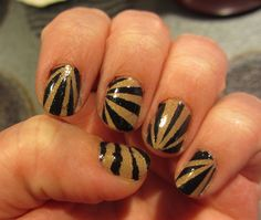 Hunger Games Inspired Scotch Tape Nail Art
