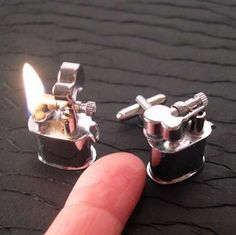 lighter cuff links