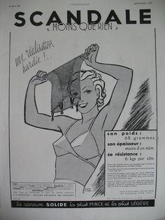 Publicite DE Presse Scandale Gaines Ceinture Solide Illustration ST Marc AD 1937   eBay