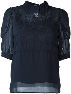 Shop See By Chloé floral Embroidered blouse.