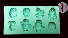 Despicable Me, Minion Inspired Silicone Mold $12 Minion Birthday, Minion Party, Polymer Clay Cupcake, Superhero Baby Shower, Christmas Ornament Crafts, Mixed Babies, Candy Molds, Despicable Me, Vintage Marketplace