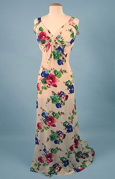 * Printed Summer Gown, 1930s