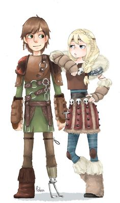 Hiccup and Astrid! How to Train Your Dragon 2! I love astrids new look! So badass! And hiccups a STUD!!!