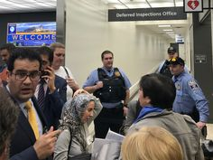 Agents still trying to put people on planes out of US, says refugee assistance advocate as immigration lawyer describes 'kafkaesque' confusion. Customs and Border Protection agents defied the orders of federal judges regarding Donald Trump's travel bans on Sunday, according to attorneys who rallied popular protests around the country in support of detained refugees and travellers from seven Muslim-majority countries.