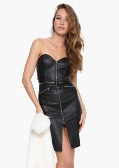 Out With The Gang Leather Dress | Necessary Clothing