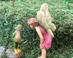 Miniature Fairy and Frog Friend - 2 pc set