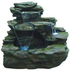 EASY FOUNTAIN Made from durable resin-stone. #waterfountain