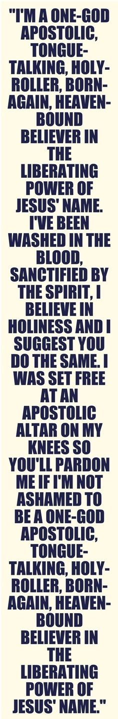 I'm Pentecostal Apostolic and it's better than you can imagine. Ask me how to join!