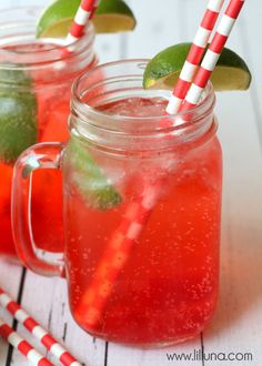 Copycat Sonic Cherry Limeade Drink - tastes just like it!! { lilluna.com }