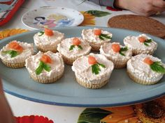 Mini cheescake salate al salmone