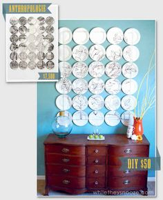 Plate Art | 50 DIY Anthropologie Hacks For Every Facet Of Your Life