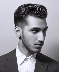 The Pompadour is the hottest new trend; From vintage classics to modern pompadour fade styles, check out this list of our 30 favorite pompadour haircuts for men 1950s Mens Hairstyles, 1950s Hairstyles, Classic Hairstyles, Hairstyles Haircuts, Haircuts For Men, Medium Hairstyles, Modern Haircuts, Funky Hairstyles, Formal Hairstyles