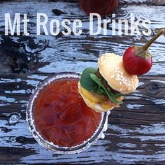 Nothing kicks a hangover in the butt like a bloody mary garnished with a slider Vodka Cocktail, Cocktail Mixers, Mt Rose, Rose Drink, Bloody Mary Bar, Craft Cocktails, Sliders, Kicks, Brunch
