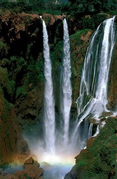 Morocco waterfalls. I want to visit waterfalls around the world!!!: