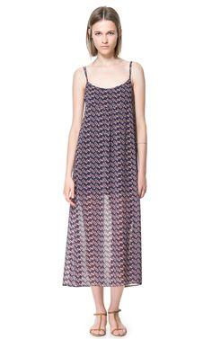 LONG PRINTED DRESS from Zara