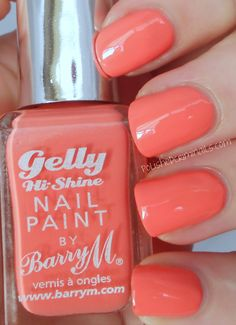 BarryM Gelly Nail Paints - Papaya Ninja Nail Polish Lacquer Floam Holographic metallic effect nail polish @opulentnails #ninjanails #floam