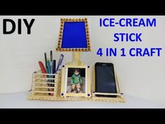How to make Simple but Beautiful Popsicle Stick Dressing Table Ice Cream Stick Craft, Diy Ice Cream, Craft Stick Projects, Craft Stick Crafts, Craft Sticks, Diy Arts And Crafts, Crafts To Make, Easy Crafts, Popsicle Stick Crafts For Kids