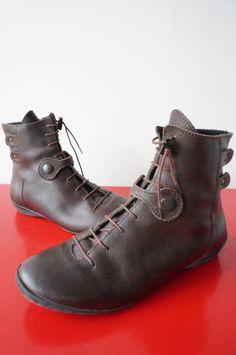 Bottines Boots Fourrées ARCUS TAILLE 37 cuIR leaTher MARRON tres bon etat