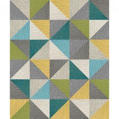 A spectrum of colors and diagonally cut squares create a kaleidoscope design that is sure to dazzle and add pizzazz to any environment. To assemble your rug, just use the FLORdots in the box with your squares.