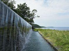 künstlicher Wasserfall Garten Pool