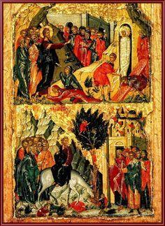 Ρίτζος Ανδρέας (Αποδίδεται)-Η έγερση του Λαζάρου και η Βαϊoφόρος, Τέλη του 15ου αιώνα