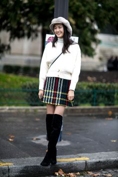 Street Style–Inspired Ways to Wear a Mini Skirt Through Fall | StyleCaster