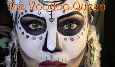 Witch doctor makeup makewalls co m witch makeup tutorial ash clements you jpg voodoo witch gothic puppet makeup pretty Voodoo Makeup, Witch Makeup, Skull Makeup, Sfx Makeup, Costume Makeup, Halloween Christmas, Halloween Make Up, Halloween Themes, Halloween Face Makeup