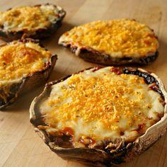 Cheesy Portabella Pizzas -