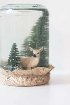 DIY Snow Globe // DIY Lumisadepallo Christmas xmas DIY