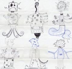 Exquisite Corpse Lesson Plan. I do this with my middle schooler and they LOVE it.
