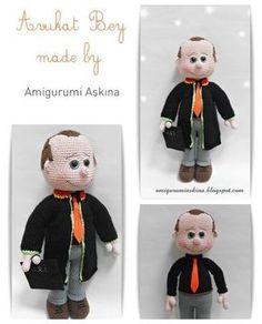 Amigurumi amigurumi Patrón libre Yapılışı- Abogado Abogado de la muñeca | Muy pequeño Mini Diseño