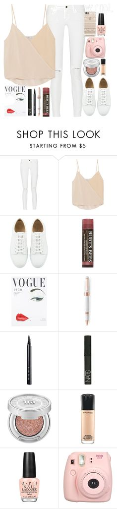 """""""school day summer"""" by lipsy-look ❤ liked on Polyvore featuring Frame, Chelsea Flower, Burt's Bees, Montegrappa, Bobbi Brown Cosmetics, NARS Cosmetics, Urban Decay, MAC Cosmetics, OPI and Fujifilm"""