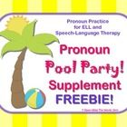 "A FREE companion to my Speech Therapy/ELL ""Pronouns Pool Party 3-Activity Pack,"" this freebie can be used as a warm-up or a stand-alone activity. ..."