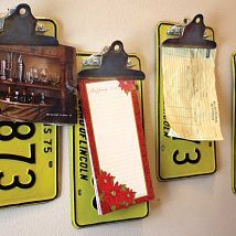 Repurposed/Upcycled License Plate Clipboards